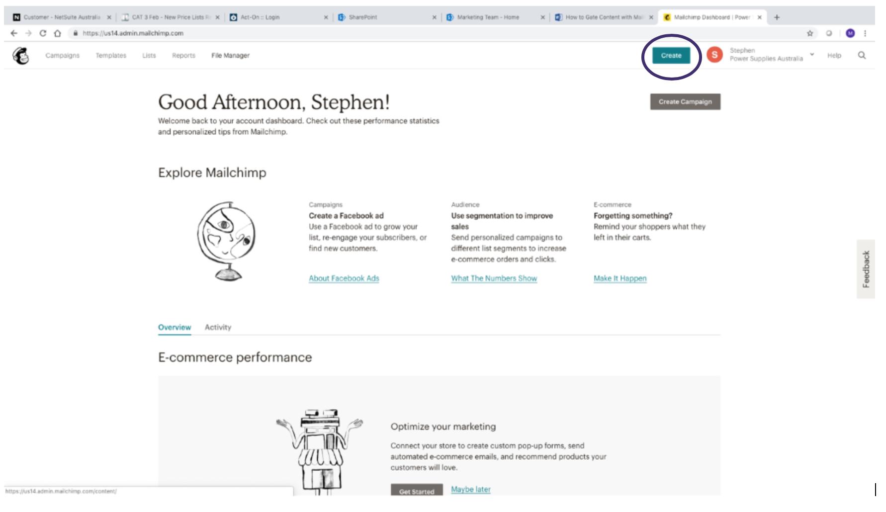 Creating MailChimp Landing Page 1