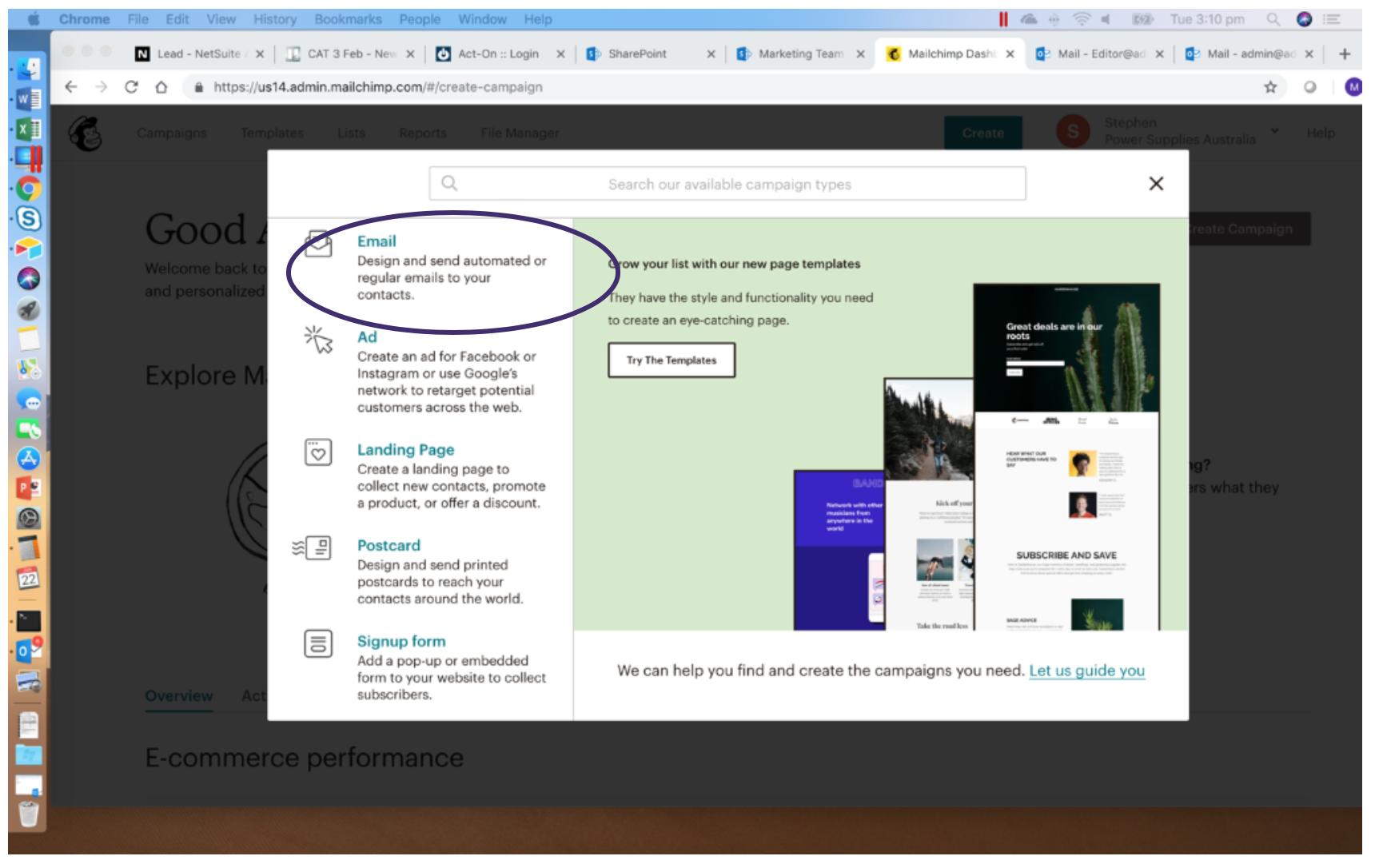 Create MailChimp Automated Message 2