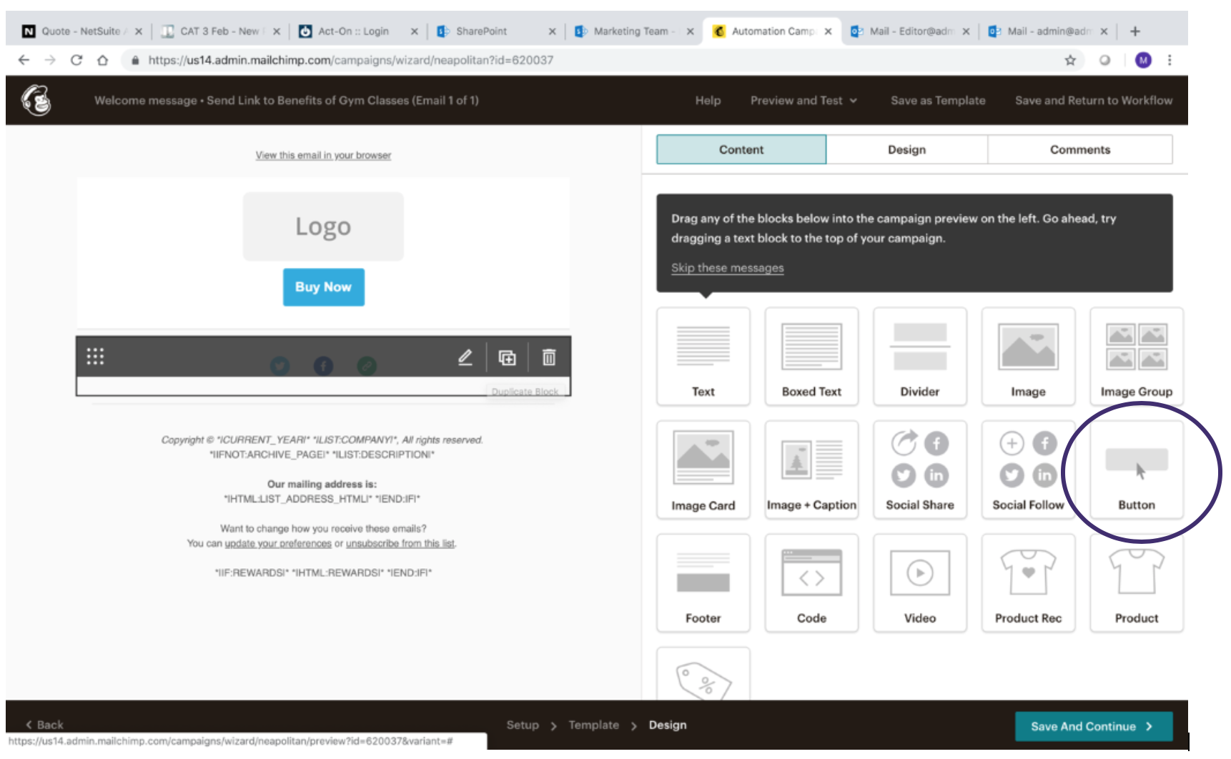 Creating MailChimp Automated Message 10