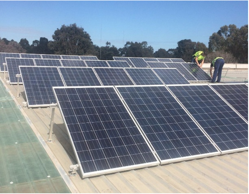 Solar Panels Being Installed at ADM Head Office